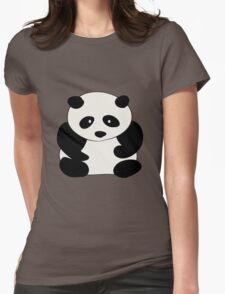 Chubby Panda Womens Fitted T-Shirt