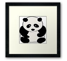 Chubby Panda Framed Print