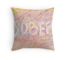 Sober and Proud in Pastels Throw Pillow