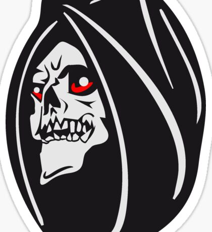 Death hooded halloween Sticker