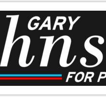 Gary Johnson Libertarian For President Sticker