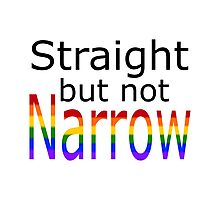 Straight But Not Narrow (black text) Photographic Print