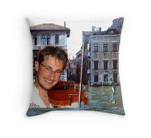 Jan in Venice - throw pillow Throw Pillow