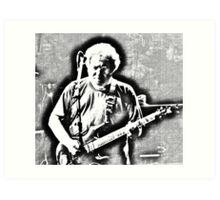 Jerry Garcia 1993--Pen and Ink Rendering Art Print