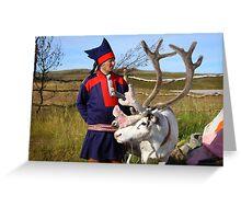 Sami & Reindeer - Nordkapp, Norway Greeting Card