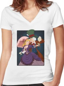 Alice and Reginald Women's Fitted V-Neck T-Shirt