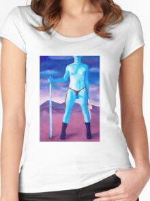 """Frightened Little Boys Rule the World, original acrylic on canvas, 60""""x42"""" Women's Fitted Scoop T-Shirt"""