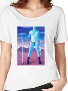 """Frightened Little Boys Rule the World, original acrylic on canvas, 60""""x42"""" Women's Relaxed Fit T-Shirt"""