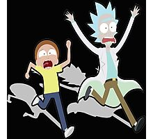 Rick And Morty Run Photographic Print