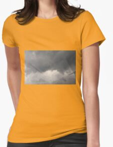 Fluffy stormy clouds. Womens Fitted T-Shirt