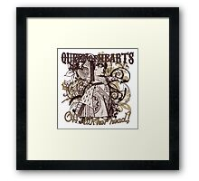 Queen of Hearts Carnivale Style Framed Print