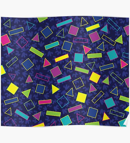 1980s Pattern Poster