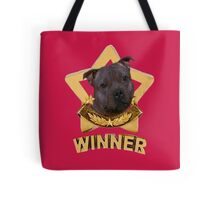 Stafforshire Bull Terrier Winner Tote Bag