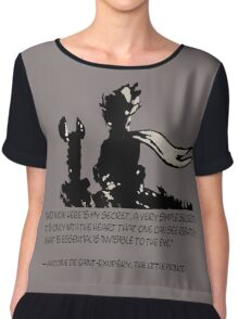 The little prince and the fox - QUOTE - sepia Chiffon Top