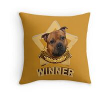 Staffordshire Bull Terrier WINNER Throw Pillow