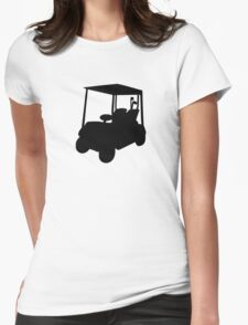 Golf car Womens Fitted T-Shirt