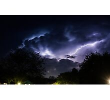 Neighborhood Storm Photographic Print