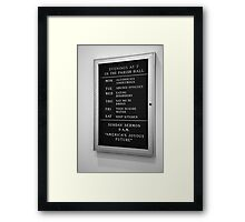 America's Joyous Future sign Framed Print