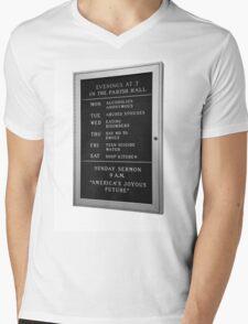 America's Joyous Future sign Mens V-Neck T-Shirt