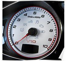 Audi R8 V10 Tachometer Poster