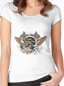 Death race Women's Fitted Scoop T-Shirt