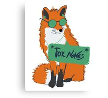 Fox Noises Canvas Print