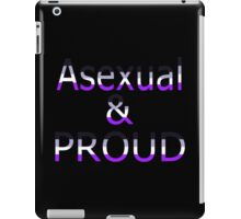 Asexual and Proud (black bg) iPad Case/Skin