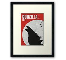 Godzilla 2014 poster Framed Print