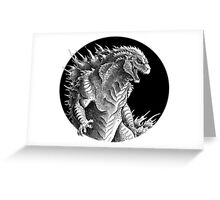 King of Beasts - On Black Greeting Card