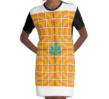 Orange Madness Graphic T-Shirt Dress
