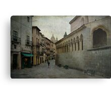 Calles de Segovia Metal Print
