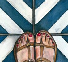 Art Beneath Our Feet - Cabarita Beach, Australia Sticker