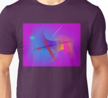 Purple Pink Abstract Space with Red Impact Unisex T-Shirt