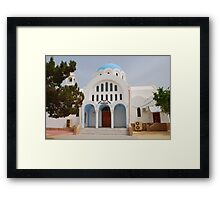 Church of Agioi Anargyroi, Agistri Framed Print