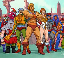 Heroic Warriors Filmation style by santalux