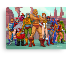 Heroic Warriors Filmation style Canvas Print