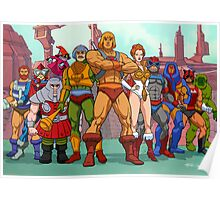 Heroic Warriors Filmation style Poster