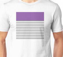 Grey Stripes With A Touch Of Purple Unisex T-Shirt
