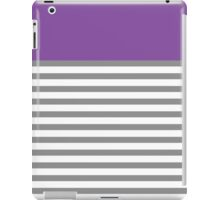 Grey Stripes With A Touch Of Purple iPad Case/Skin
