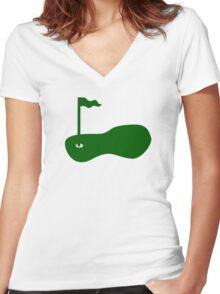 Golf court Women's Fitted V-Neck T-Shirt