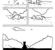 Laika the Space Dog Pillow by gurukitty