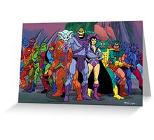 Evil Warriors Filmation Style Greeting Card