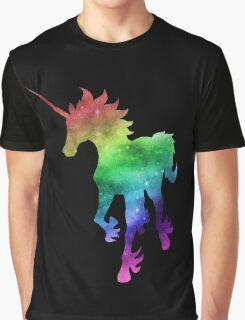 Rainbow Galaxy Unicorn Graphic T-Shirt