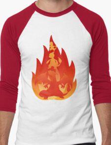 Charmander-meleon-izard Men's Baseball ¾ T-Shirt