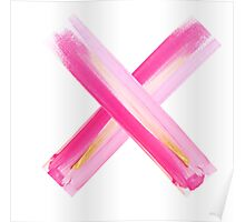 X #gold-#pink Poster