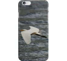 White Egret in flight  iPhone Case/Skin