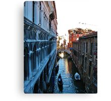 View from the Bridge of Sighs, Venice Canvas Print