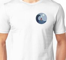 The Moon and Sea (Fox and Girl) Unisex T-Shirt