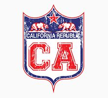 California Republic Red White and Blue Distressed Unisex T-Shirt