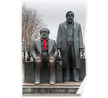 Marx, Engels and the red scarf Poster